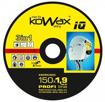 Řezný kotouč Kowax 3v1 150 x 1,9 x 22mm