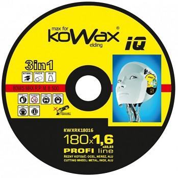 Řezný kotouč Kowax 3v1 180 x 1,6 x 22mm