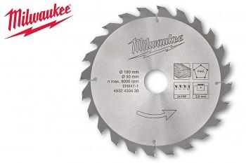 Pilový kotouč Milwaukee 190 x 30 - 24 zubů