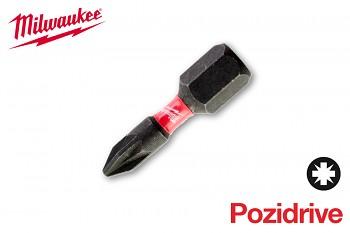 Bit Pozidrive PZ1 x 25 Shockwave Milwaukee