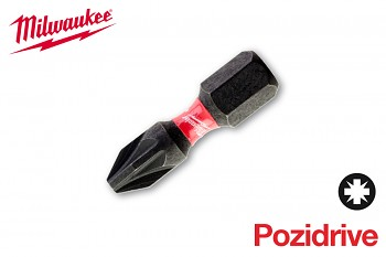 Bit Pozidrive PZ2 x 25 Shockwave Milwaukee