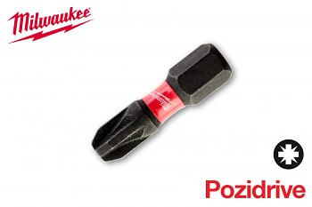 Bit Pozidrive PZ3 x 25 Shockwave Milwaukee