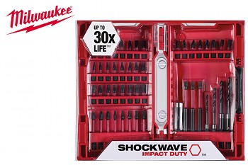 Sada bitů a vrtáků 48ks Shockwave Milwaukee