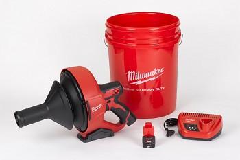 Aku čistič potrubí Milwaukee M12 BDC8-202C