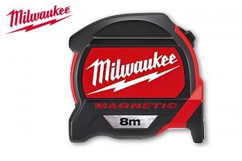 Profesionální svinovací 8m/27mm Milwaukee s magnetem