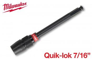 """Prodloužení vrtáku Milwaukee 7/16"""" x 140 mm Quik-lok"""