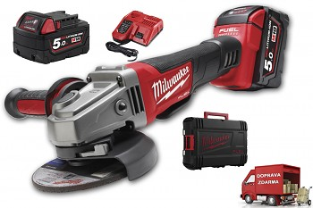 Aku úhlová bruska Milwaukee M18 CAG125XPD-502X FUEL