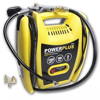 Kompresor Power Plus 1100W Hobby + příslušenství