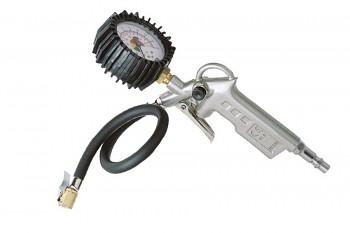 Pistole s manometrem pro huštění pneumatik