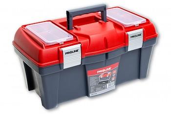 """Plastový box s kovovými přeskami 46x26x23 cm 18"""""""