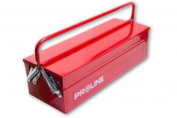 Kovový kufr na nářadí 55x20x16 cm s jedním držadlem