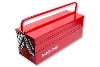 Kovový kufr na nářadí 55x20x21 cm s jedním držadlem