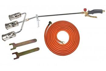 Plynový hořák 3x50mm na propan-butan + hadice