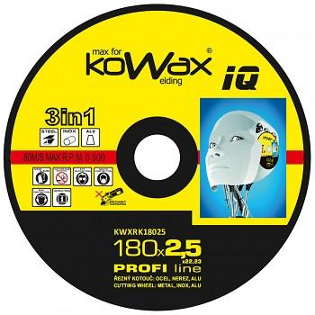 Řezný kotouč Kowax 3v1 180 x 2,5 x 22mm