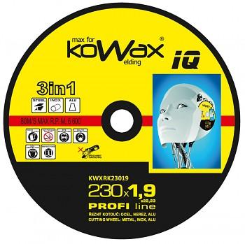 Řezný kotouč Kowax 3v1 230 x 1,9 x 22mm