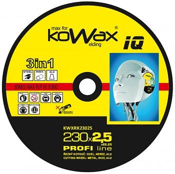 Řezný kotouč Kowax 3v1 230 x 2,5 x 22mm