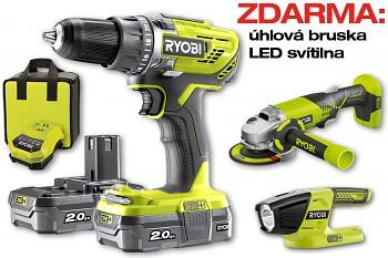 Ryobi R18DD3  vrtačka 18V + ZDARMA úhlovka a LED svítilna
