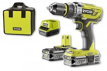 Ryobi R18PD3-225S  dvourychlostní příklepová vrtačka 18V/2x2,5Ah  ONE+