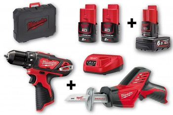 START SET 3 M12  Milwaukee M12BDD + C12HZ + 3x aku