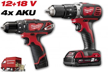 START SET 12+18V  Milwaukee M12BPD + M18BPD