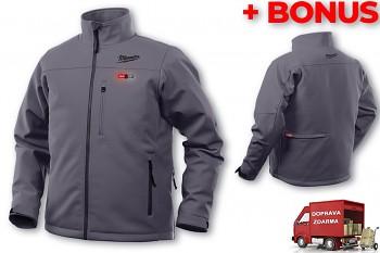 Aku vyhřívaná bunda Milwaukee Premium M12 HJ GREY4-0 (S) šedá