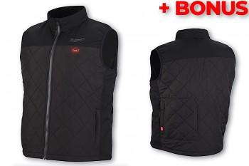 Aku vyhřívaná prošívaná vesta Milwaukee M12 HBWP-0 (XL) černá