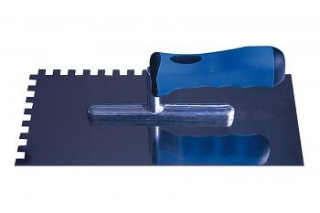 Hladítko ocelové zubové E8 s plastovou rukojetí 280 x 120 mm INOX