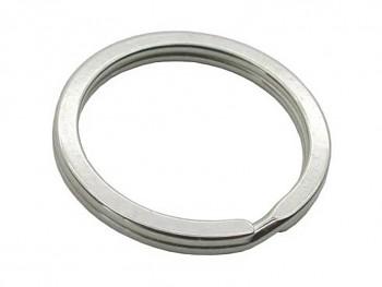 Kroužek na klíče plochý 25 mm