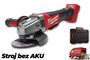 Aku úhlová bruska Milwaukee M18 CAG125XPD-0X FUEL