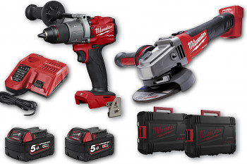 START set E1 Milwaukee M18 FPD2 + M18CAG125X + 2x aku 5 Ah