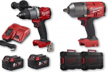 START set E2 Milwaukee M18 FPD2 + M18 FHIWF12 + 2x aku 5 Ah