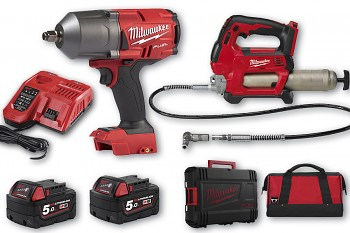 START set E7 Milwaukee M18 FHIWF12 + M18 GG + 2x aku 5 Ah