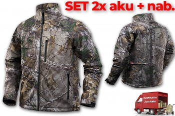 SET aku vyhřívaná bunda Milwaukee Premium M12 HJ CAMO4-0 (L) maskovací