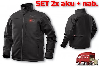 SET aku vyhřívaná bunda Milwaukee Premium M12 HJ BL4-0 (L) černá