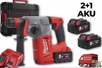 Aku SDS-PLUS vrtací kladivo Milwaukee M18 CHX-502 X FUEL 3x aku