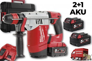 Aku SDS-PLUS vrtací kladivo Milwaukee M18 CHPX-502X  FUEL 3x aku